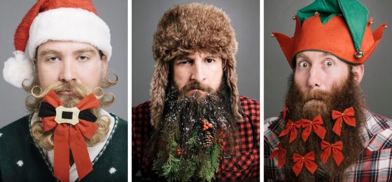 moda na brodę, broda z klasą, stylizacja brody, broda na święta, ozdoby do brody