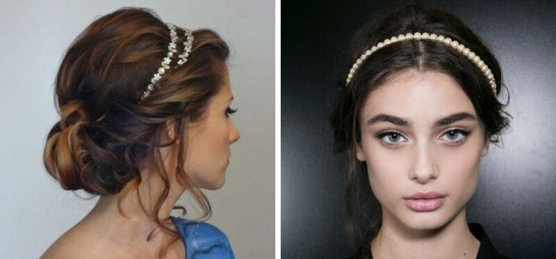fryzura na studniówkę z długich włosów, koki, upięcia