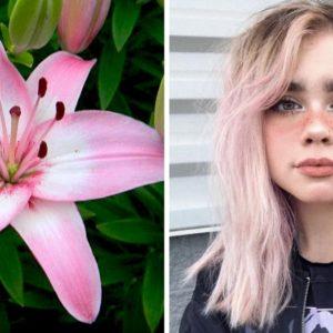 waniliowo-liliowe włosy, trendy 2019, fioletowe włosy, liliowe włosy