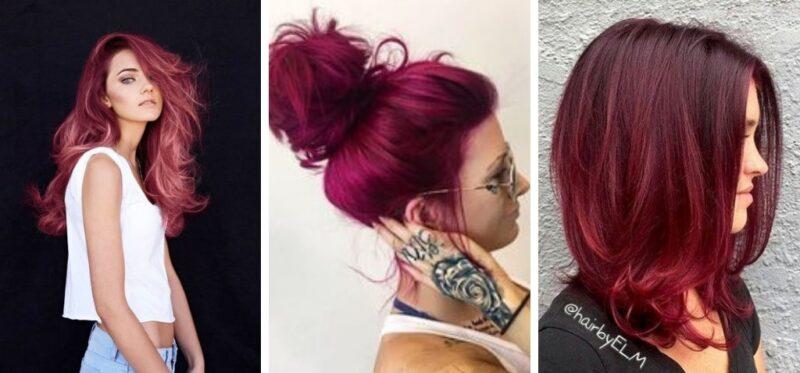 cranberry hair, włosy czerwone