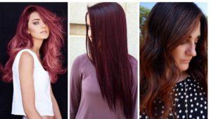 czerwone włosy, włosy czerwone, bordowe włosy, ciemno czerwone włosy, czerwone pasemka, wine hair. cranberry hair, chocolate chili hair