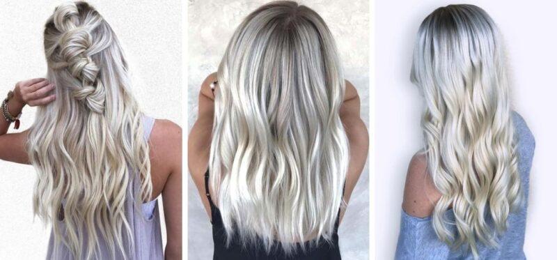 bardzo jasne włosy, włosy blond, trendy 2019