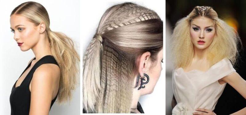 karbowane włosy, crimped hair