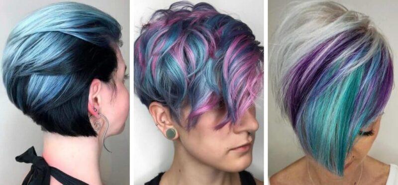krótkie włosy, kolorowe włosy, włosy na karnawał, krótkie włosy fryzury
