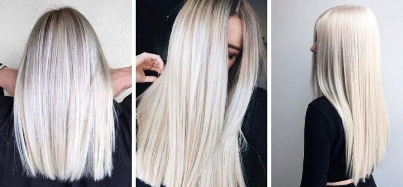 zimny blond, platynowy blond, lodowy blond