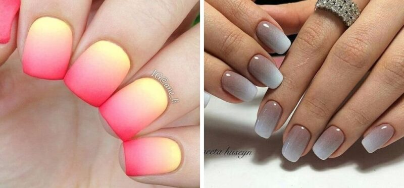ombre paznokcie, pomysł na paznokcie