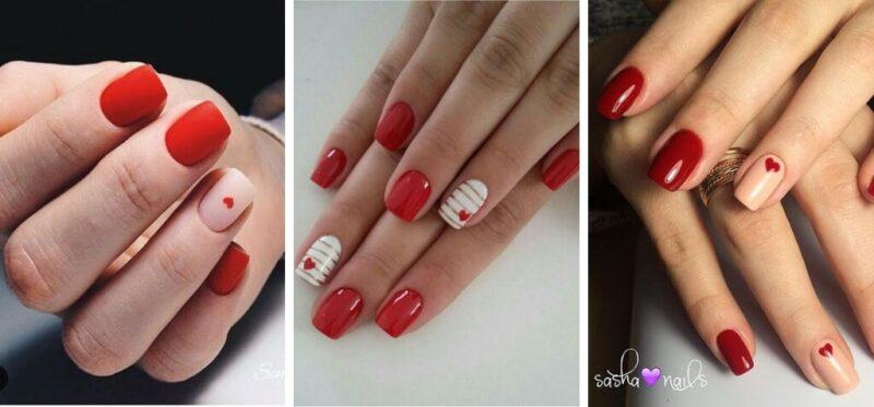 wzory na paznokcie, pomysł na paznokcie, paznokcie na walentynki