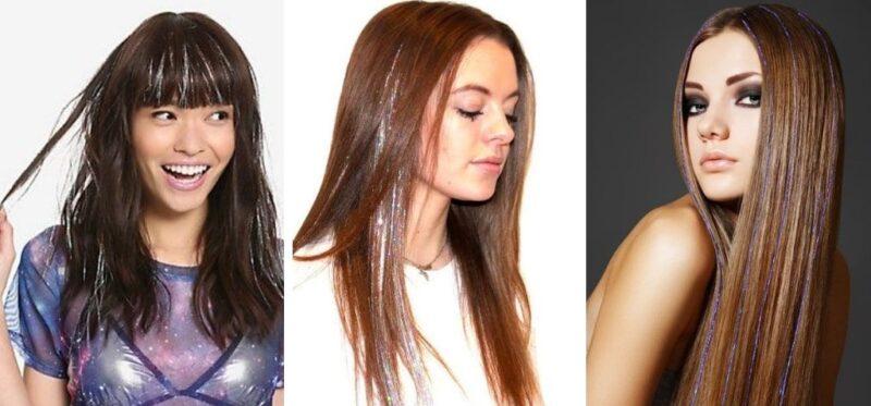 tinsel hair, karnawał fryzury, fryzury na karnawał