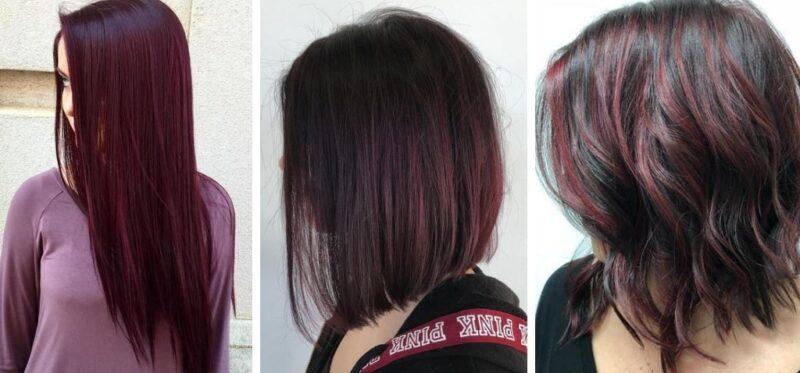 wine hair, włosy w kolorze wina, bordowe włosy