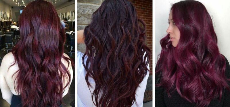 wine hair trend 2019