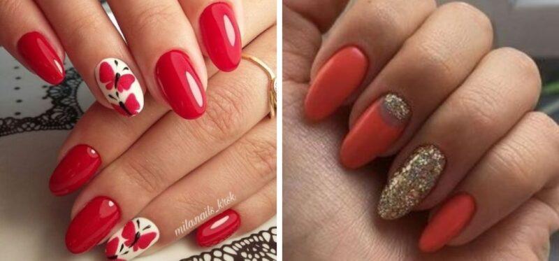 pomysł na paznokcie, czerwone paznokcie