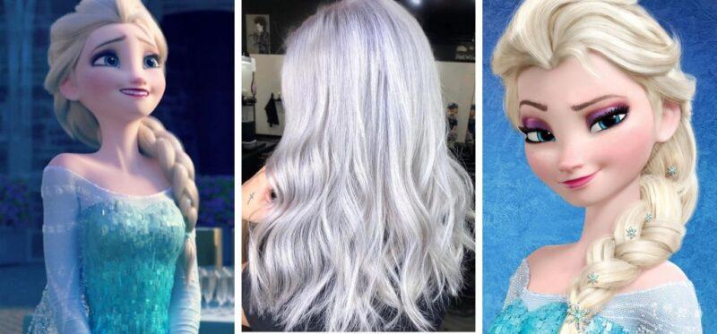 zimny blond, kraina lodu, elsa, jasne włosy