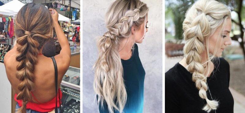 jak nosić warkocz, pomysły na fryzury z długich włosów, pomysły na warkocze