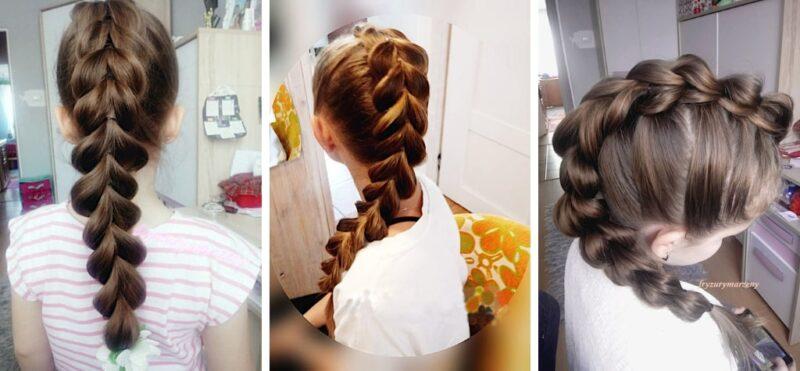 fryzury dla dziewczynek, warkocze dla dziewczynek