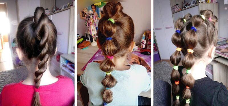 fryzura na kucyku, fryzury dla dziewczynek