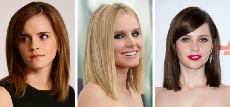 fryzury gwiazd, proste fryzury, proste włosy, clavi cut