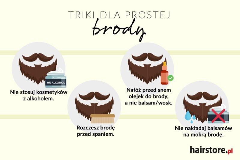 prosta broda, sposoby na wyprostowanie brody, co zrobić żeby broda się nie kręciła