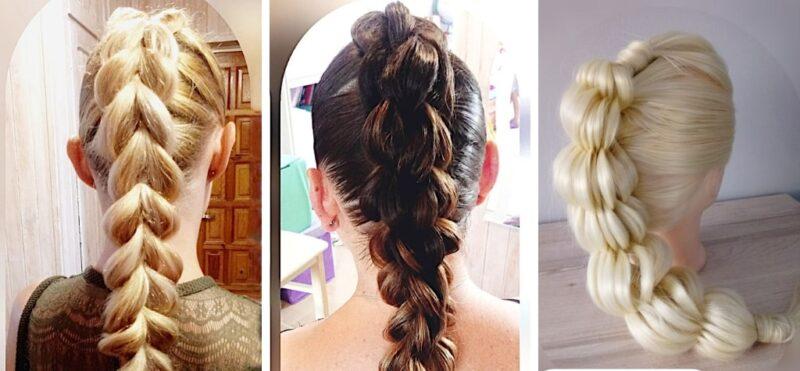 bąbelkowy warkocz, warkocz oszukany, długie włosy dziewczynka