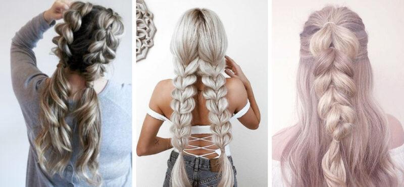 długie warkocze, wygodne fryzury, oszukany warkocz, warkocz oszukany