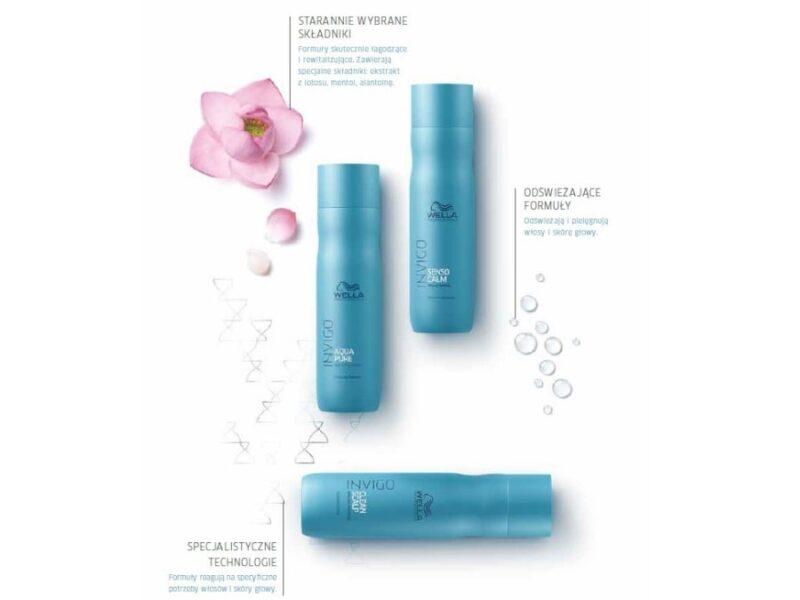 kosmetyki do wrażliwej skóry głowy, szampony oczyszczające, wella invigo balance blend