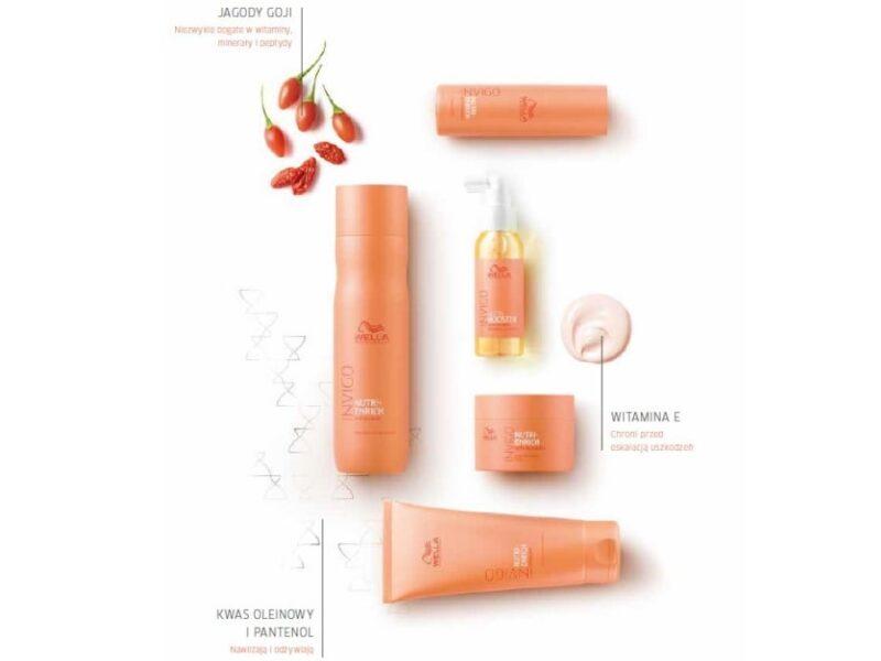 szampon nawilżający, szampon odżywiający, kosmetyki do suchych i zniszczonych włosów, wella invigo nutri enrich