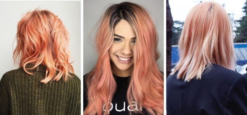 apricot hair, trendy w koloryzacji 2019, najmodniejszy kolor na wiosnę 2019
