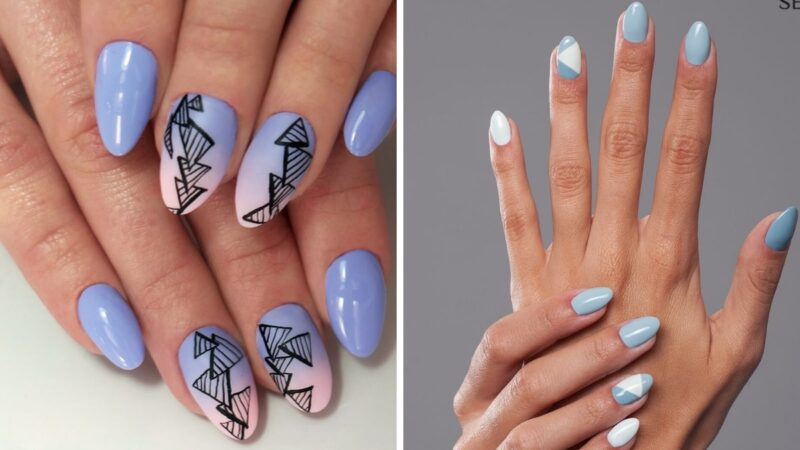 geometria manicure, wzory paznokcie, wzory manicure, semilac, lakier semilac, semilac hybryda