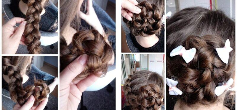 koki dla dziewczynek, fryzura na wesele dla dziewczynki