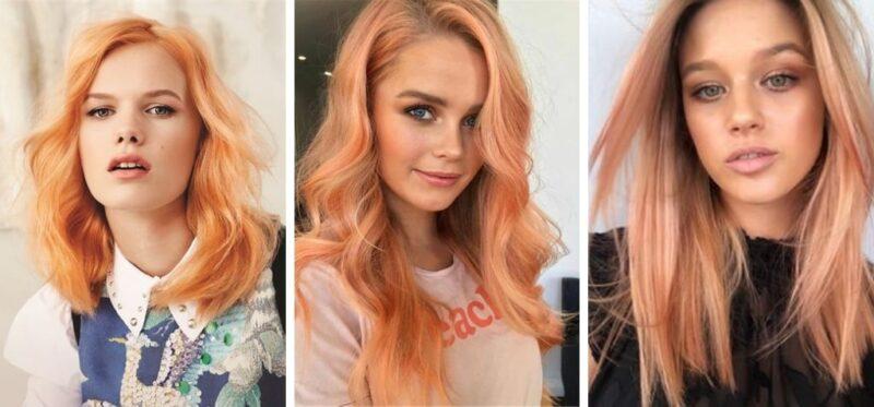 morelowe włosy, morelowy kolor włosów