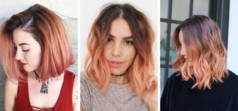 kolorowe włosy, apricot hair 2019, włosy ciemne