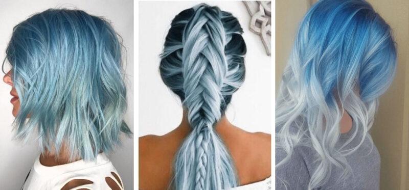 niebieskie włosy, błękitne włosy