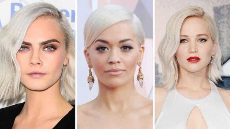 cara delegvine, rita ora, scarlett johannson, gwiazdy białe włosy