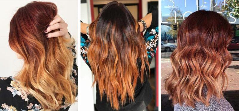 rude ombre, ombre rude, ombre na rudych włosach, rude włosy ombre