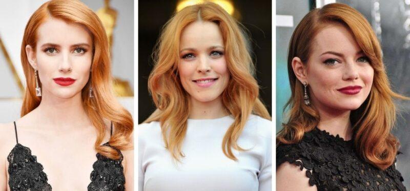 rude włosy gwiazdy, dla kogo rude włosy, rude odcienie włosów