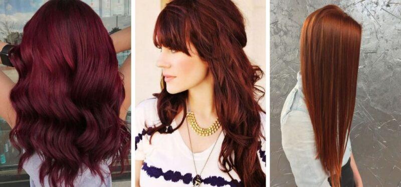 ciemne rude włosy, burgundowe włosy, czerwone włosy
