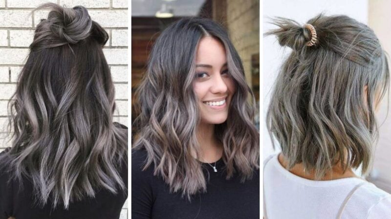 smokey hair, smoky hair, siwe włosy, smoky gray