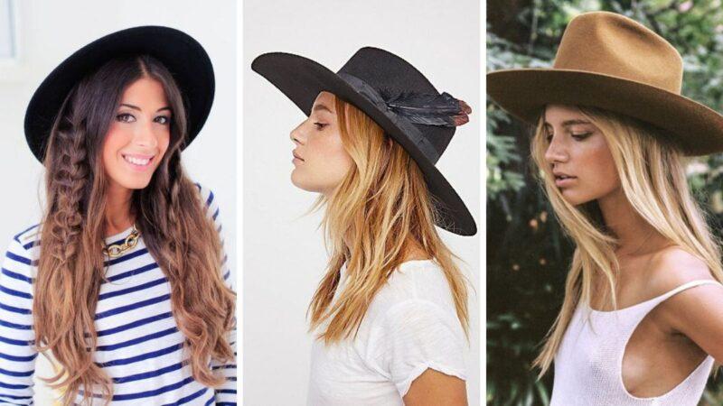 fryzury z kapeluszami, eleganckie kapelusze, kapelusze na lato