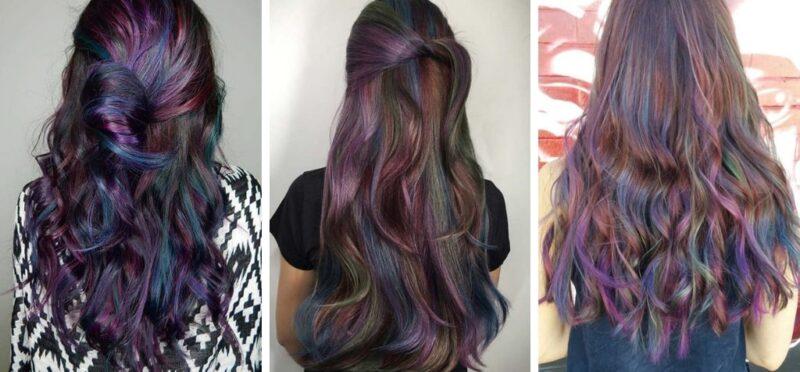 kolorowe włosy,, tęczowe włosy, kolorowe pasemka