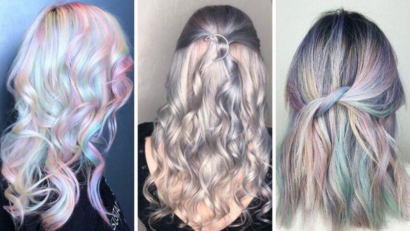 kolorowe wlosy, tęczowy kolor włosów, opal hair galeria