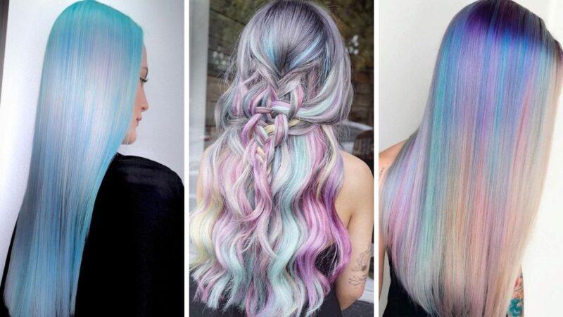 opal hair, kolorowe włosy, tęczowe włosy, oil slick hair