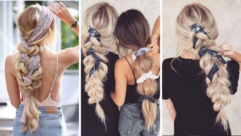 fryzury na wakacje, fryzury z długich włosów, oryginalne fryzury