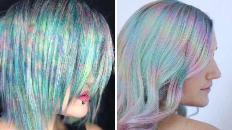 color misting, koloryzacja na lato, fryzury na wakacje, kolorowe fryzury