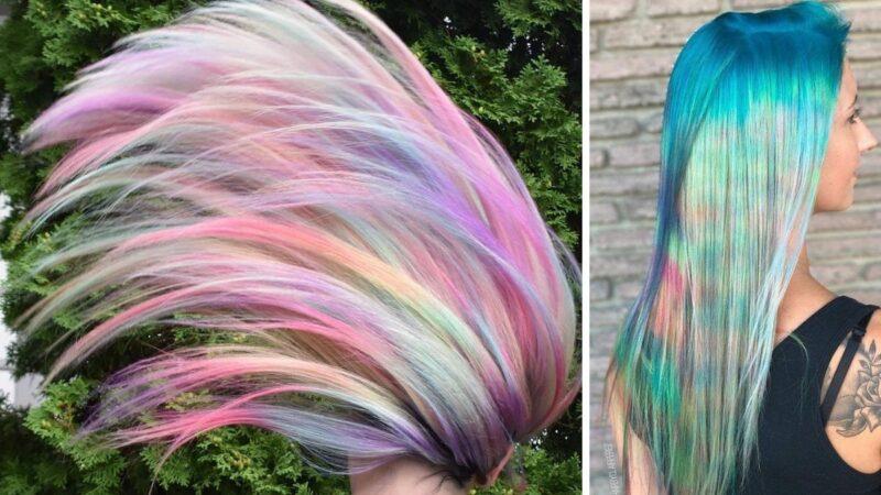 color misting, pastelowe włosy, kolorowe długie włosy,