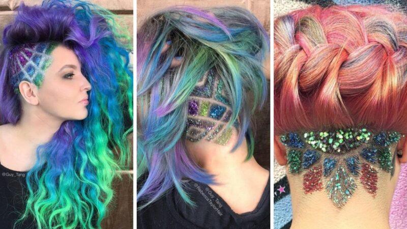 glitter undercuts, trendy lato 2019