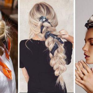 fryzury z chustą, fryzury na lato, fryzury na wakacje