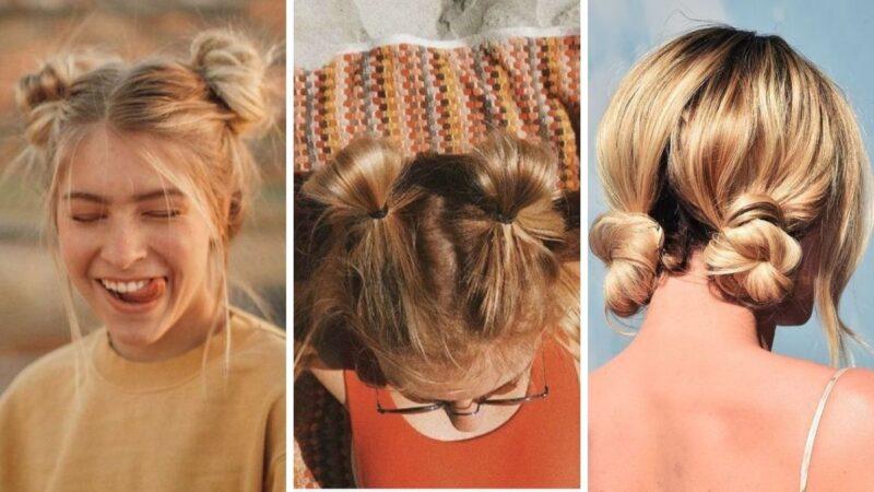 podwojny kok, fryzury dla dziewczyn, fryzury dla nastolatek, fryzury na lato