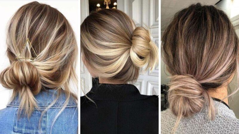luźne upięcia, wygodne fryzury, proste fryzury