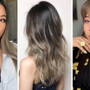 milk tea hair, milky hair, trendy 2019