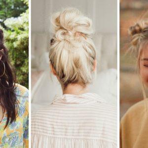 top knot, messy bun, koczek, kaktus, fryzury na lato