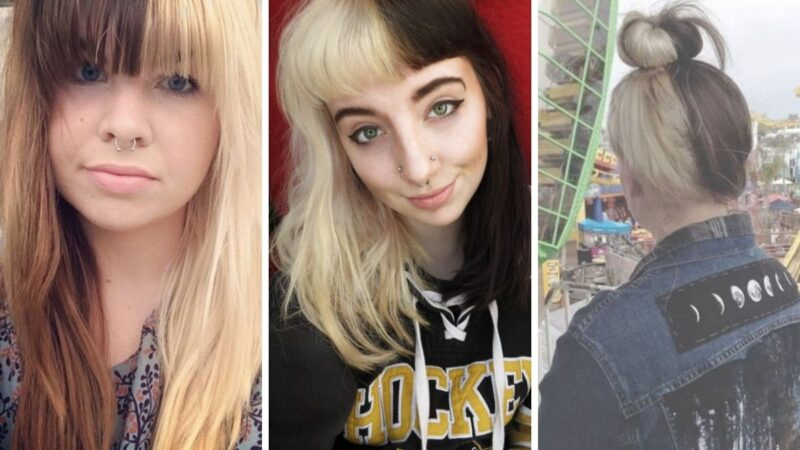 jasne włosy, ciemne włosy, jasno-ciemne włosy